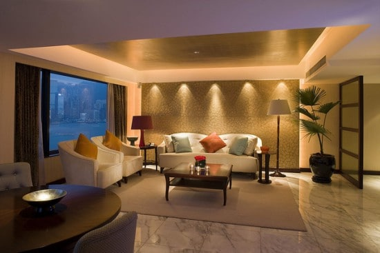 Indirekte beleuchtung beleuchtung planen for Recessed lighting for living room good idea